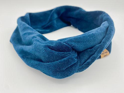 Haarband Draht Samt dunkelblau