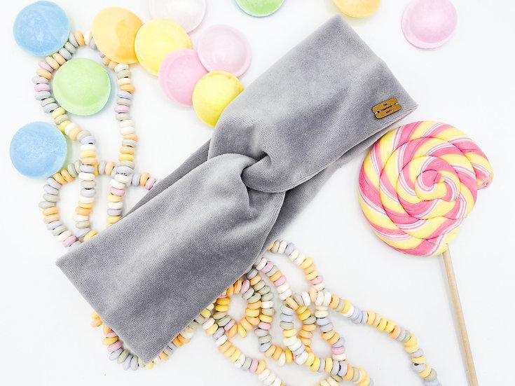 Bonbon Haarband hellgrau