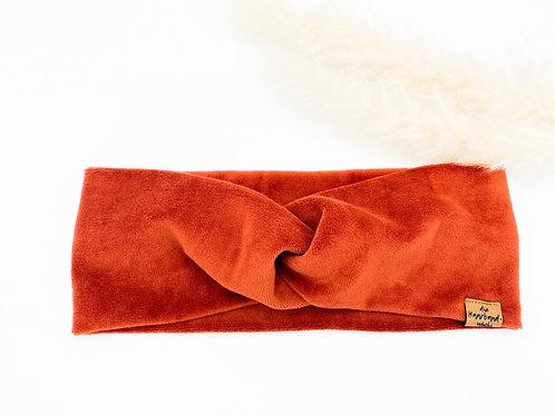 Haarband Basic Samt Terrakotta