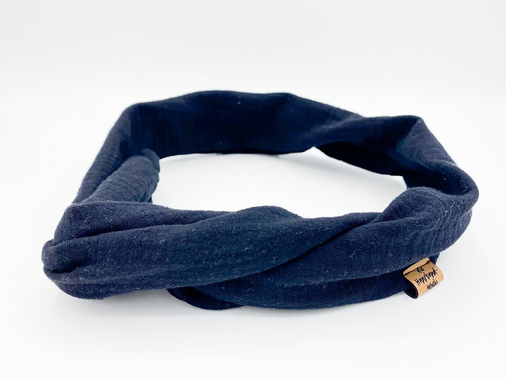 Haarband  Draht Musselin schwarz