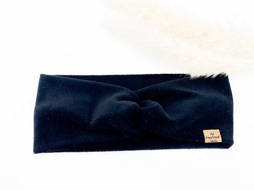 Haarband Basic Samt schwarz
