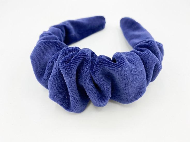 Haarreif blau gerafft