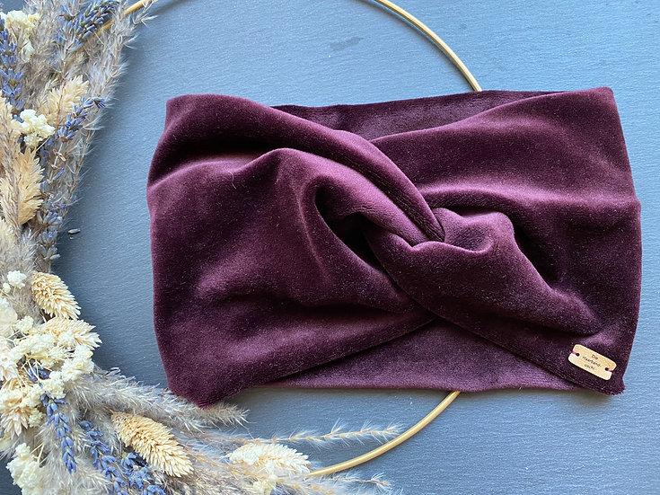 Haarband Samt extra breit, verschiedene Farben