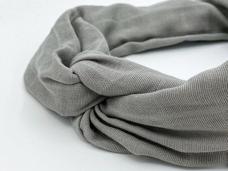 Haarband Draht grau
