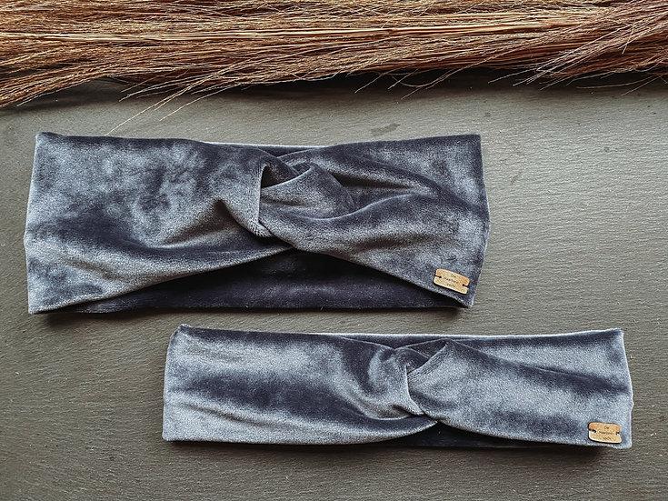 Haarband Samt blau