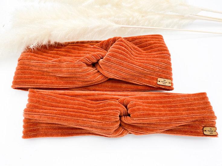 Hilde Samt/Cord orange