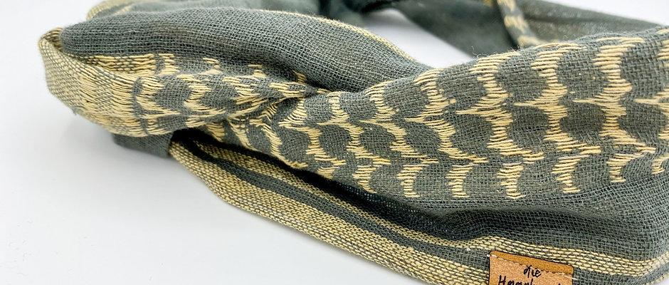 Mrs Res Haarband Draht beige/grau