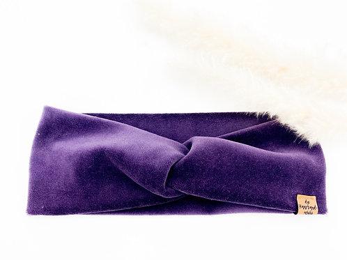 Haarband Basic Samt lila