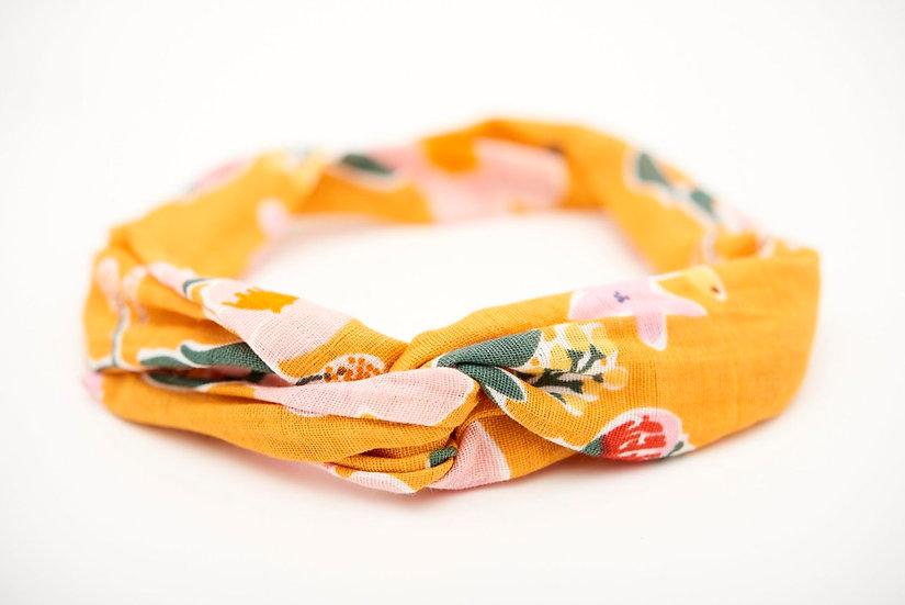 Haarband Flower Senfgelb