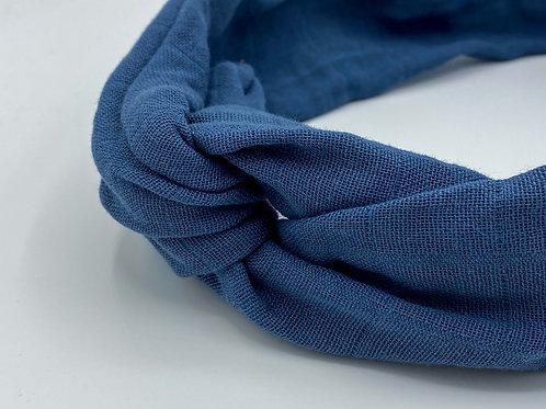 Haarband Draht blau