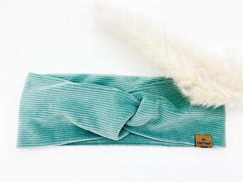Haarband Basic Cord türkis