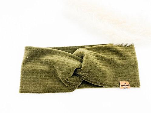 Haarband Basic Cord Khaki