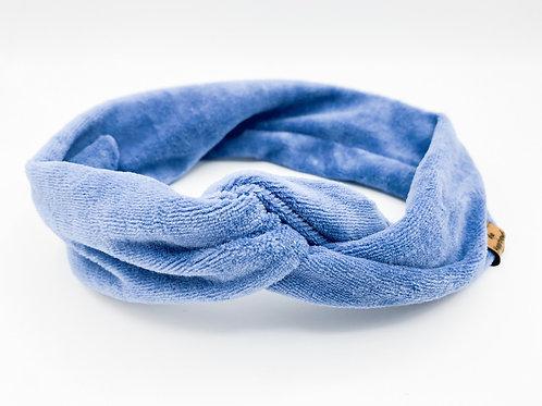 Haarband Draht samt hellblau