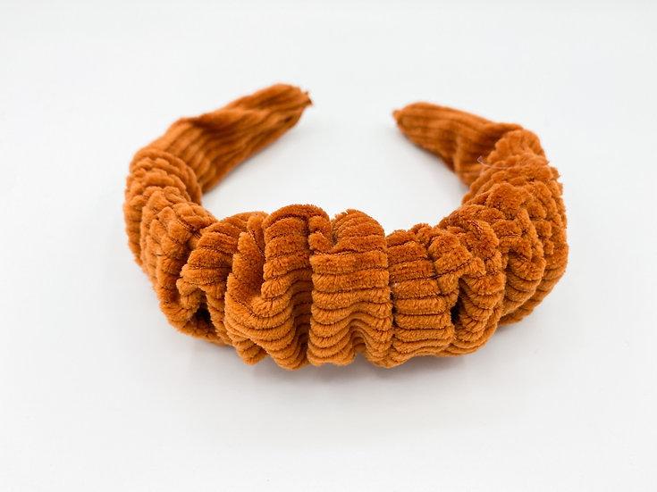 Haarreif orange gerafft
