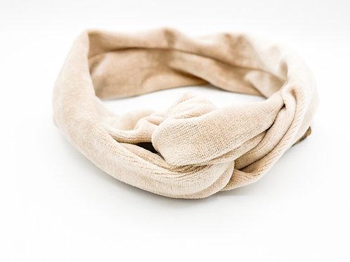 Haarband Draht Samt beige
