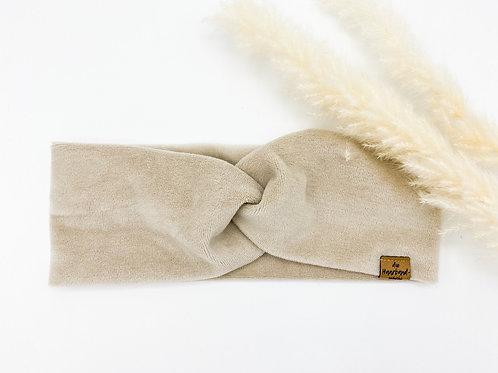 Haarband Basic Samt beige hell