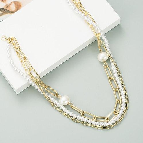 Colliers multi avec perles et maillons