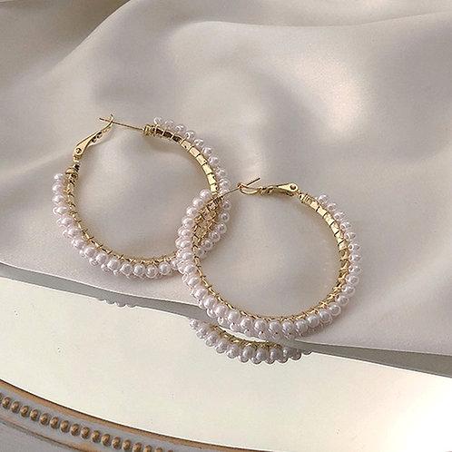 Anneaux double rangé de perles