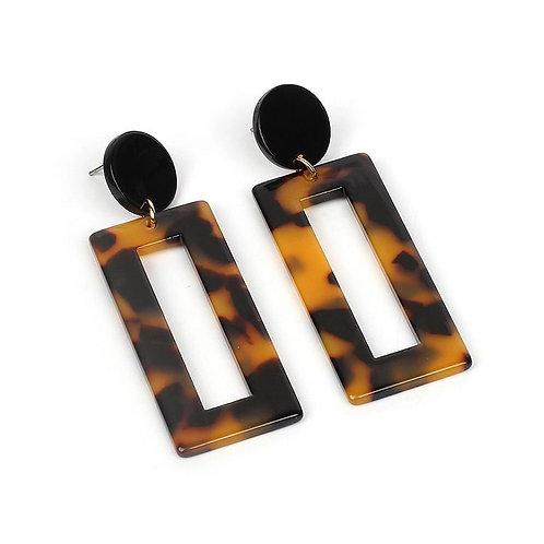 Boucles d'oreilles rectangulaires en acryliques