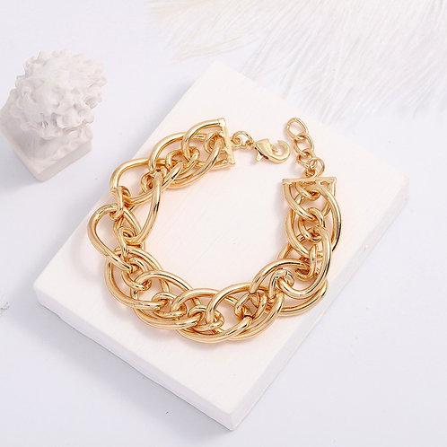 Bracelet maillons doré