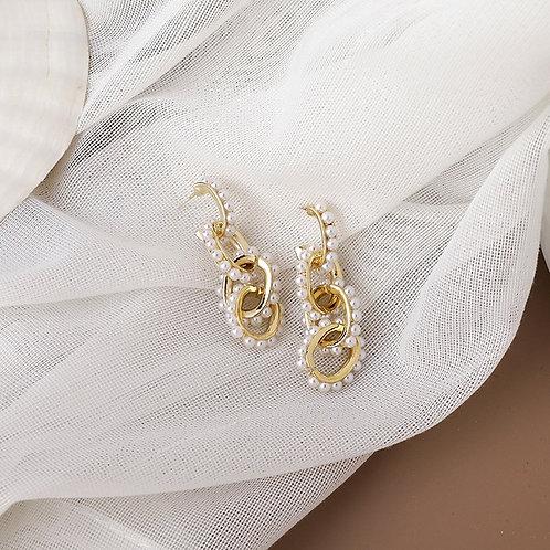 Boucles d'oreilles perles fines