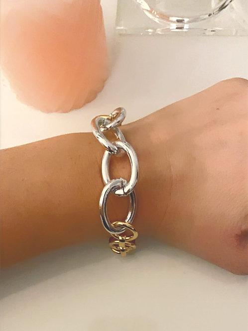 Bracelet bicolore à maillons