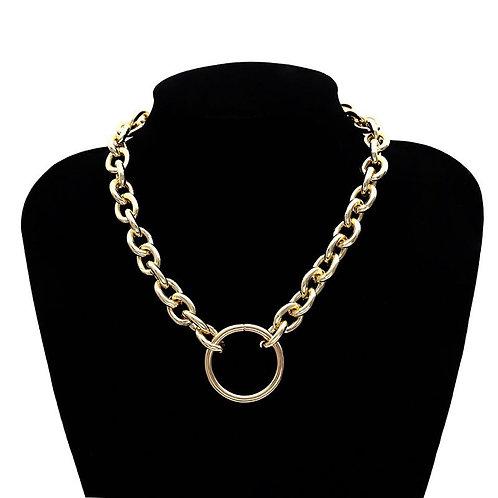 collier maillon et anneau