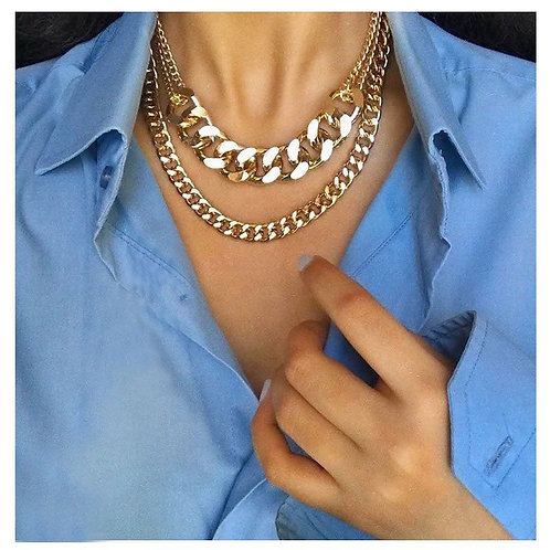 Collier double chaines