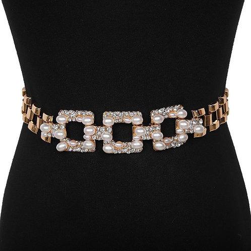 Ceintures fines bijoux strass et perles