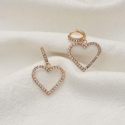 Boucles d'oreilles petits pendants coeurs