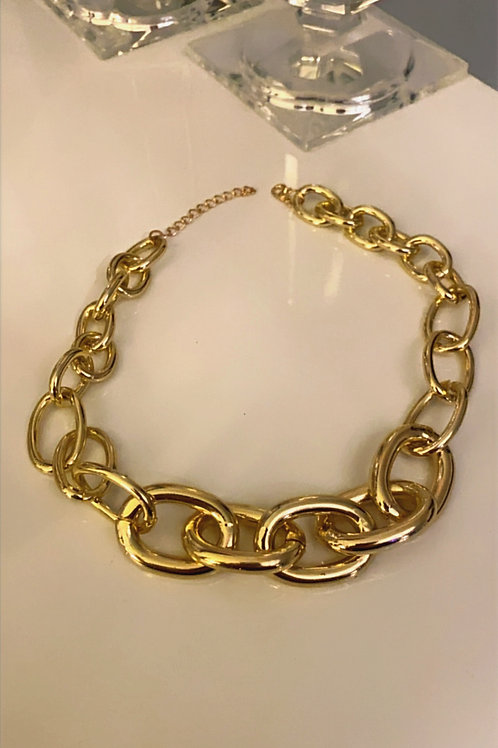 Collier court gros maillons