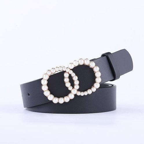 Ceinture double anneaux en perles