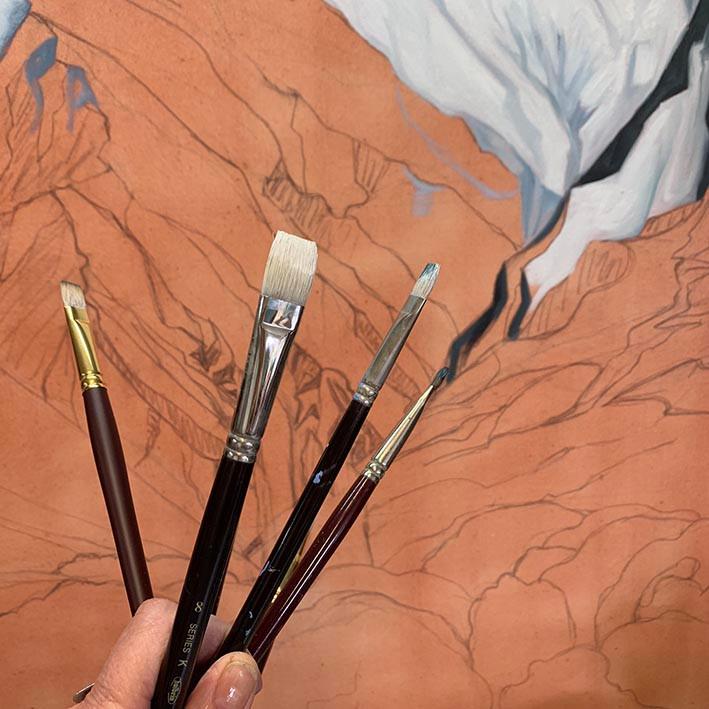 paint brushes,artists brushes