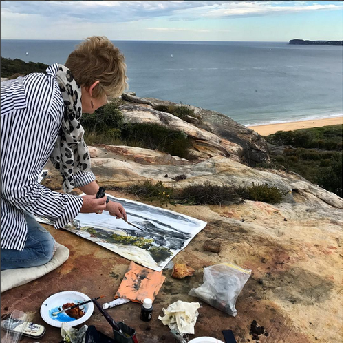 Plein air painting,Debbie Mackinnon