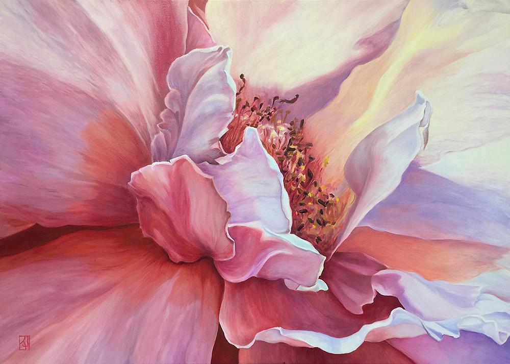 Spring dancer, flower painting, rose