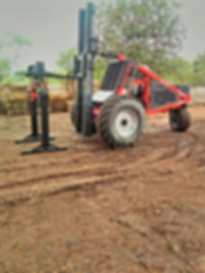 Dirker Forklift  With a Brick Grab Working In Tzaneen