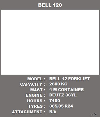 Bell Forklift For Sale Rebuilded By Forklift Master