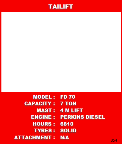 7 Ton Tailift Information For Sale At Forklift Master