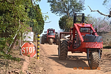 Dirker Forklifts Transporting Clay Bricks At Magaliesburg