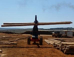 Dirker Log Handler Loading Poles At Piet Retief