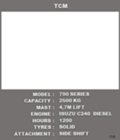 Tcm Diesel Forklft For Sale