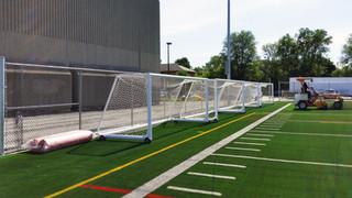 Installation de buts de soccer
