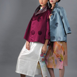 Stylish and classic silk jackets