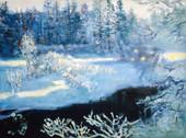 Ya. Oyunchimeg, Winter Etude, oil on canvas