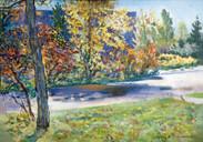 Ya. Oyunchimeg, Autumn, oil on canvas