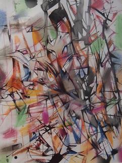 Do. Bold, 'Innovation', 2018, pastel ink on paper