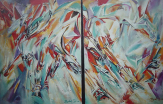 Do. Bold, Indomitable, oil on canvas