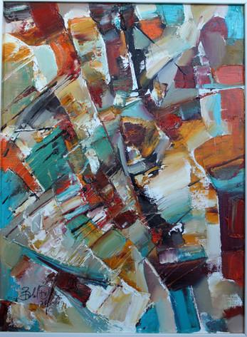 Do. Bold, Composition, oil on canvas