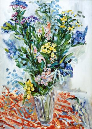 Ya. Oyunchimeg, Naturmorte, watercolor on paper