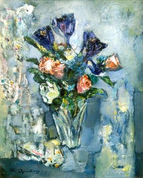 Ya. Oyunchimeg, Naturmorte, oil on canvas